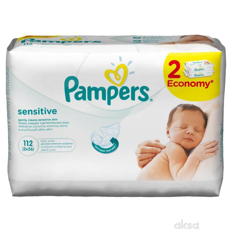 Pampers baby vlažne maramice sensitiv 2x56kom