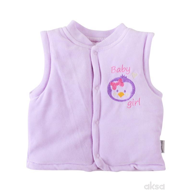 Lill&Pippo bebi prsluk,devojčice,pliš