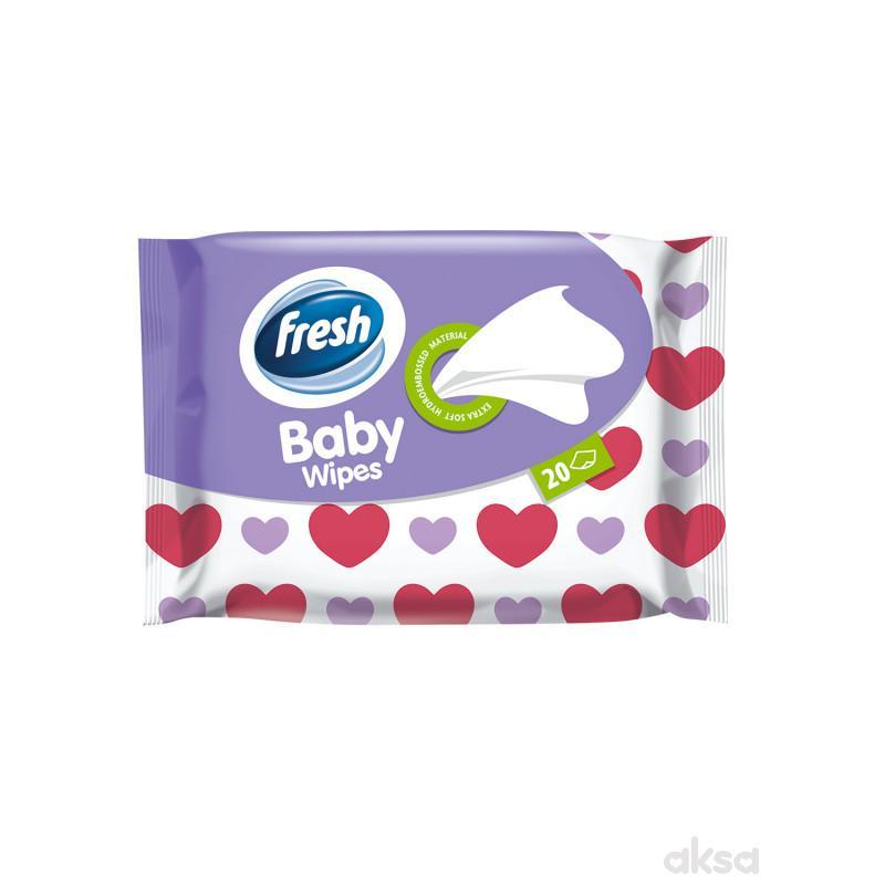 Fresh baby vlažne maramice 20kom