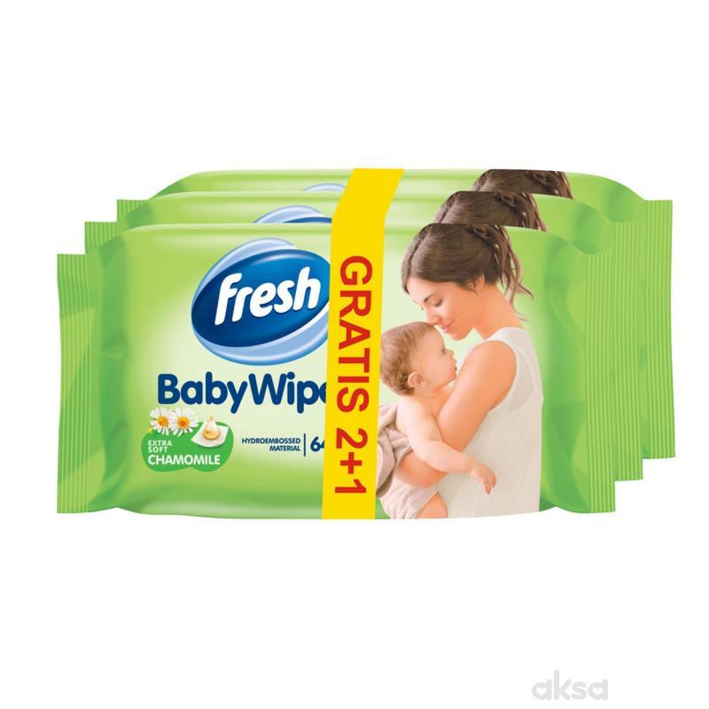 Fresh baby vlažne maramice 3x64kom