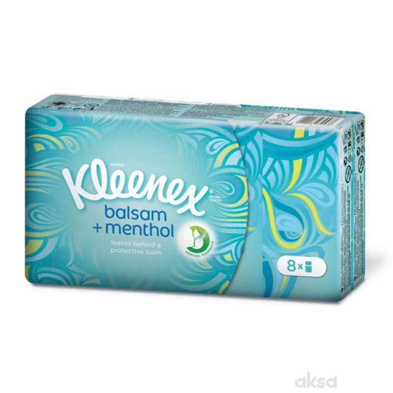 Kleenex papirne maramice sa mentolom, 8x9kom