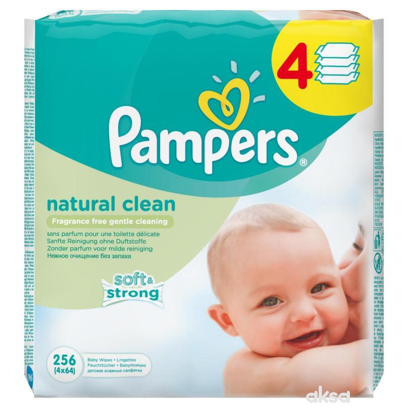 Pampers baby vlažne maramice natural clean 4x64kom