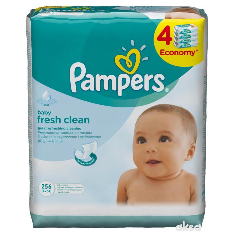 Pampers baby vlažne maramice fresh 4x64kom