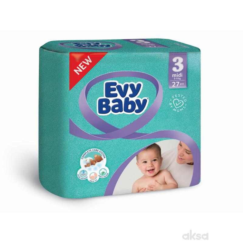 Evy baby pelene standard 3 midi 5-9 kg 27kom