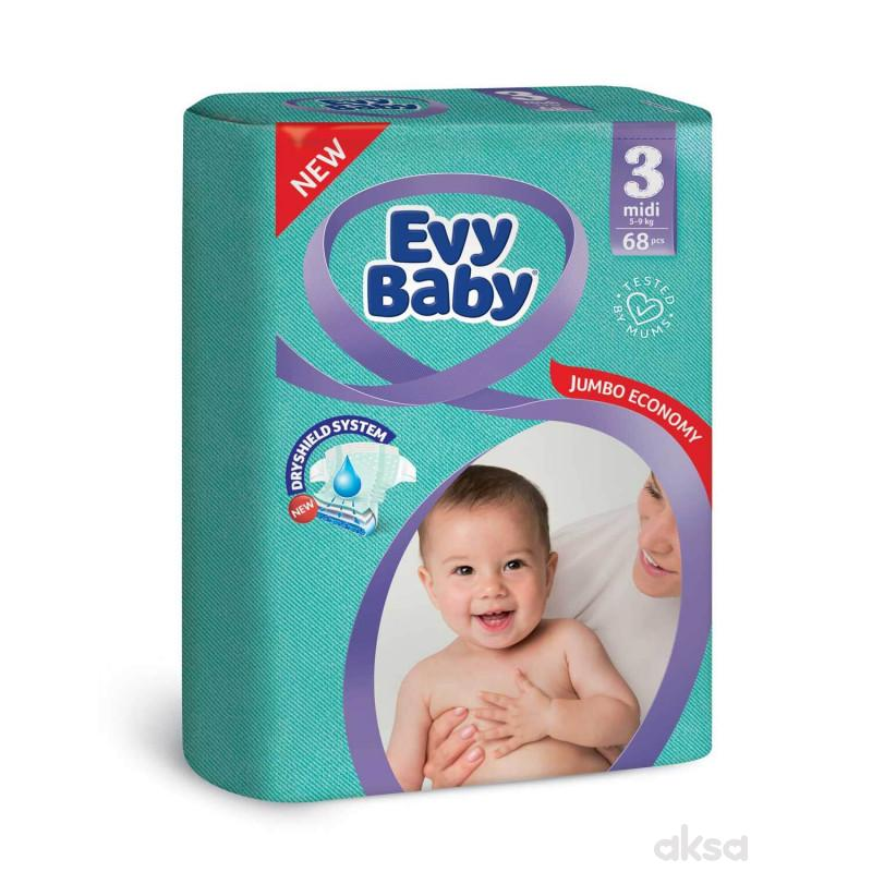 Evy baby pelene jumbo 3 midi 5-9kg 68kom