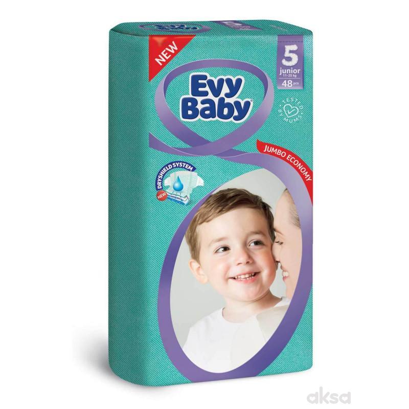 Evy baby pelene jumbo 5 junior 12-25kg 48kom