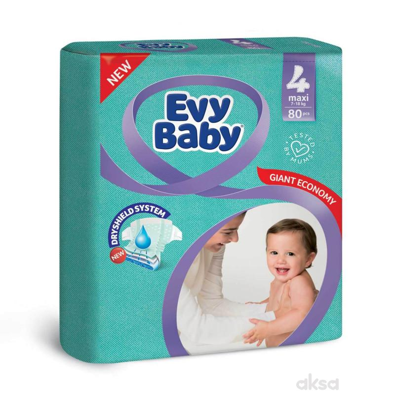 Evy baby pelene giant 4 Maxi 8-18kg 80kom