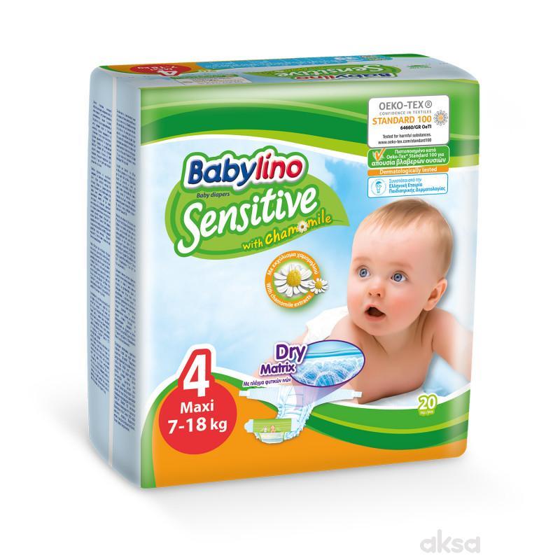 Babylino pelene sensitive 4 maxi 7-18kg 20kom