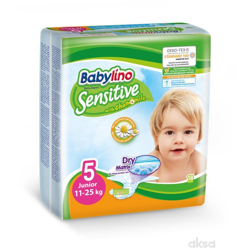 Babylino pelene sensitive 5 junior 11-25kg 18kom