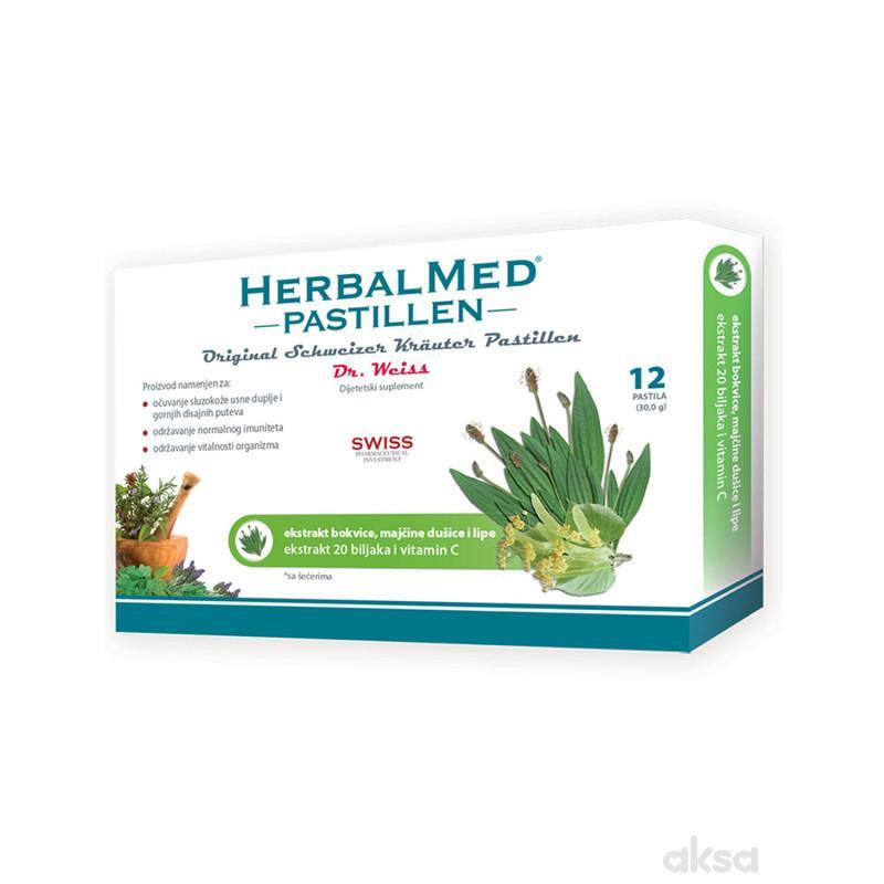 HerbalMed pastile bokvica, m. dušica, lipa 12kom