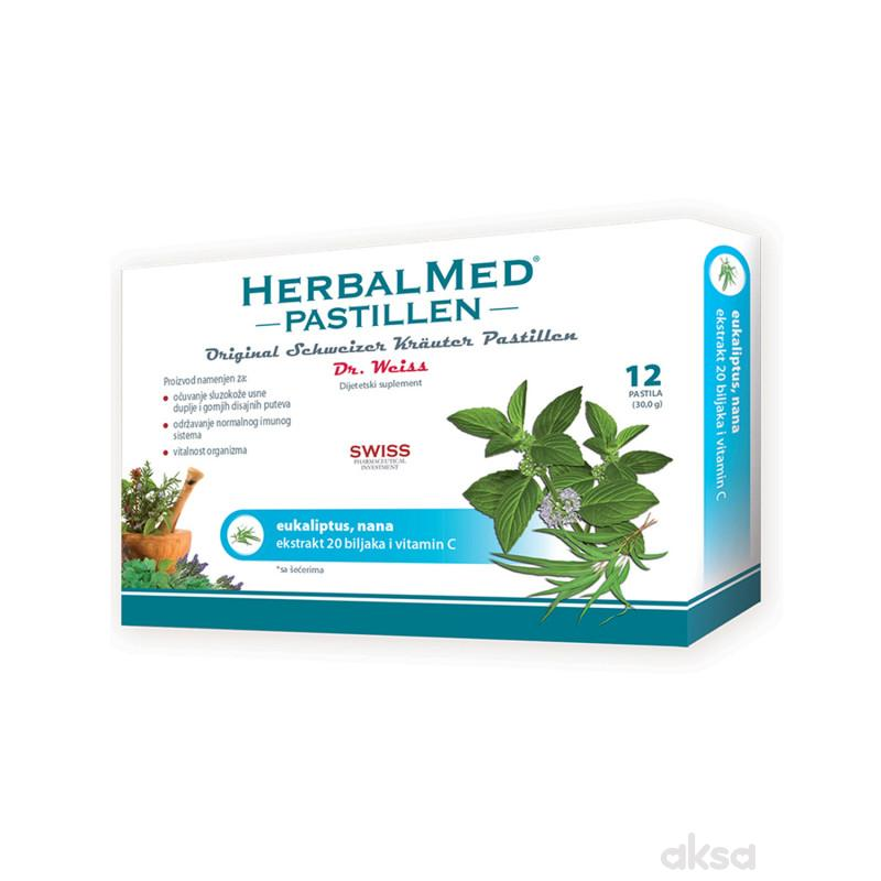 HerbalMed pastile eukaliptus i nana 12kom