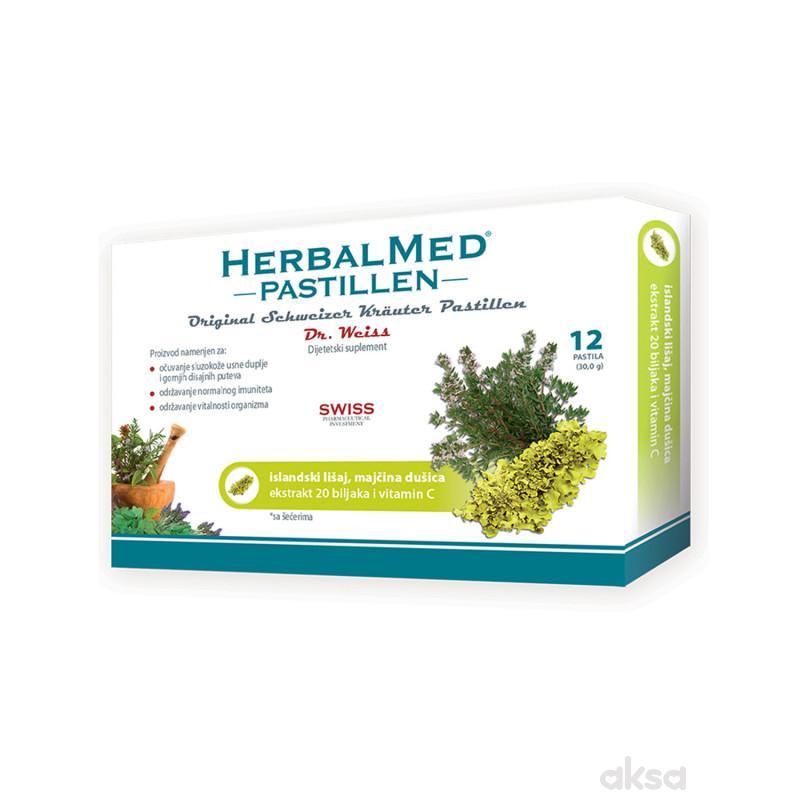 HerbalMed pastile islandski lišaj i m dušica 12kom