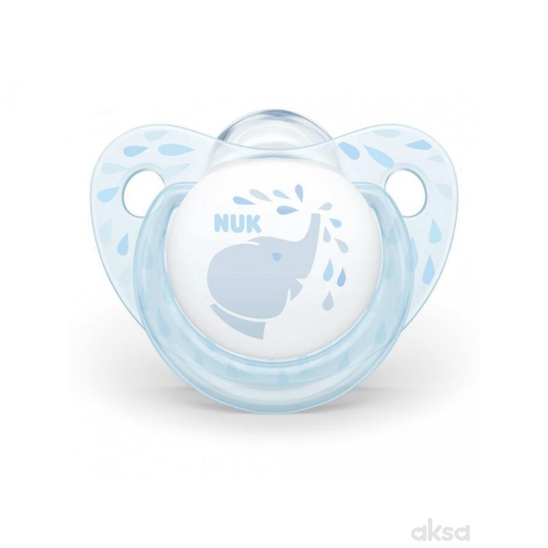Nuk laža silikon Baby blue, 0-6m new