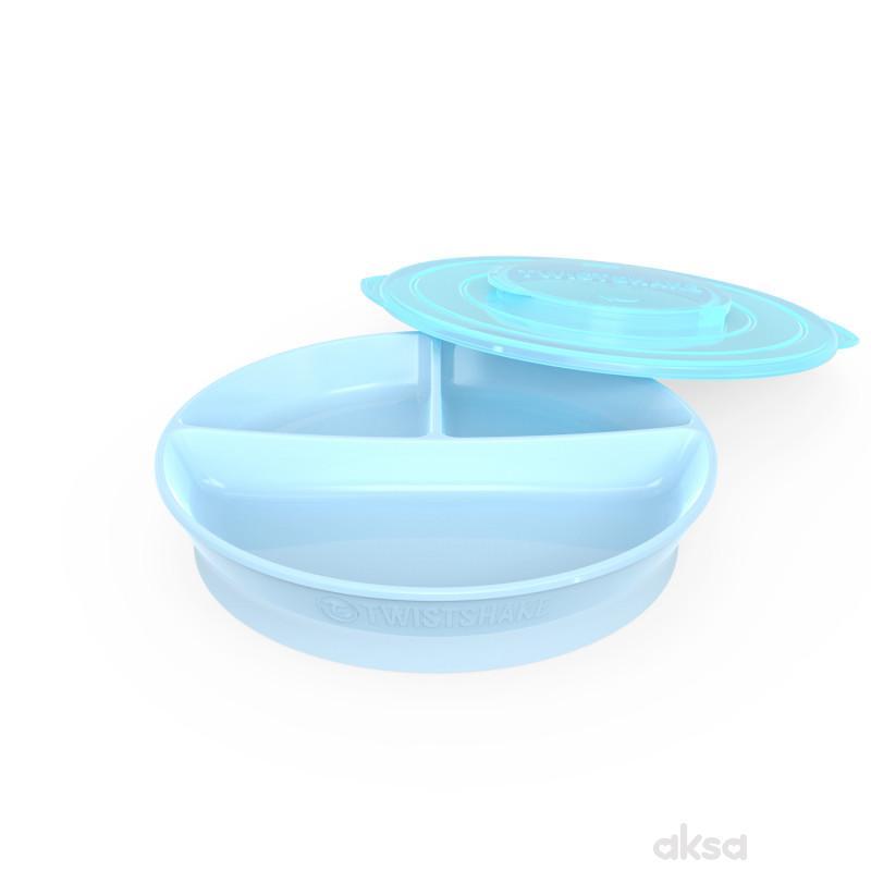 TS tanjir podeljeni 6m+ pastelna plava