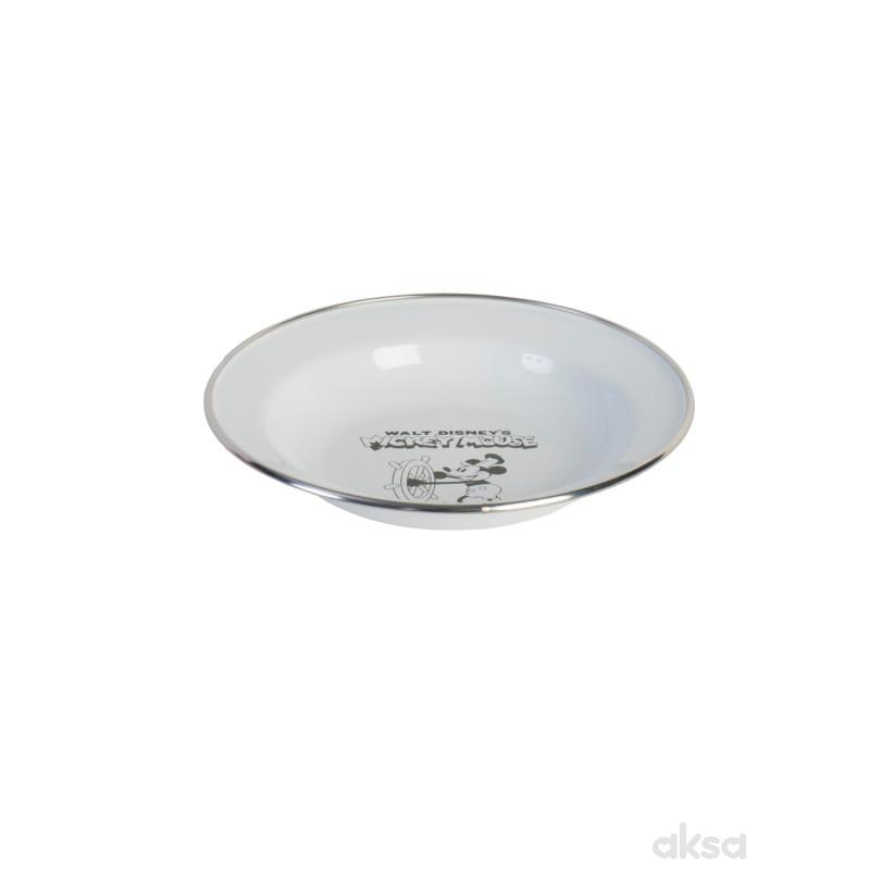 Metalac tanjir 18cm, retro bela