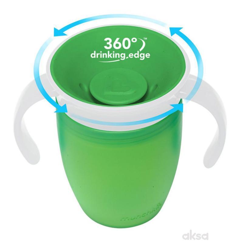 Munchkin čaša sa ručkama Miracle 360, 207ml, 6m+