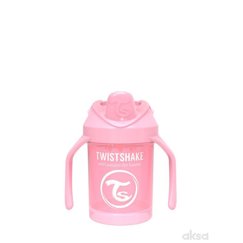 TS čaša sa ručkom Mini Cup 230ml 4m+ pastelna roze