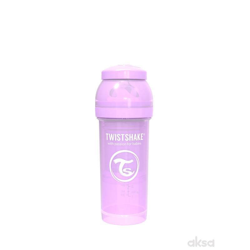TS flašica anti-colic 260ml pastelna ljubičasta