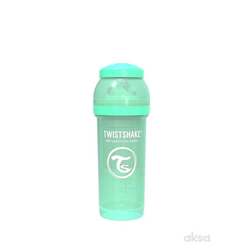 TS flašica anti-colic 260ml pastelna zelena