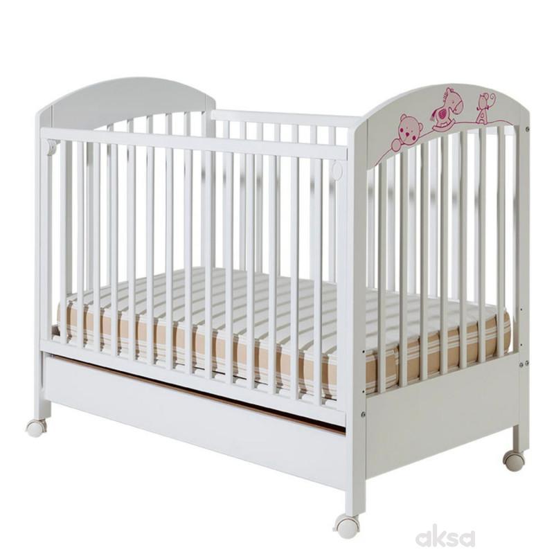 Bambino krevetac Maja, belo-roze, sa fiokom