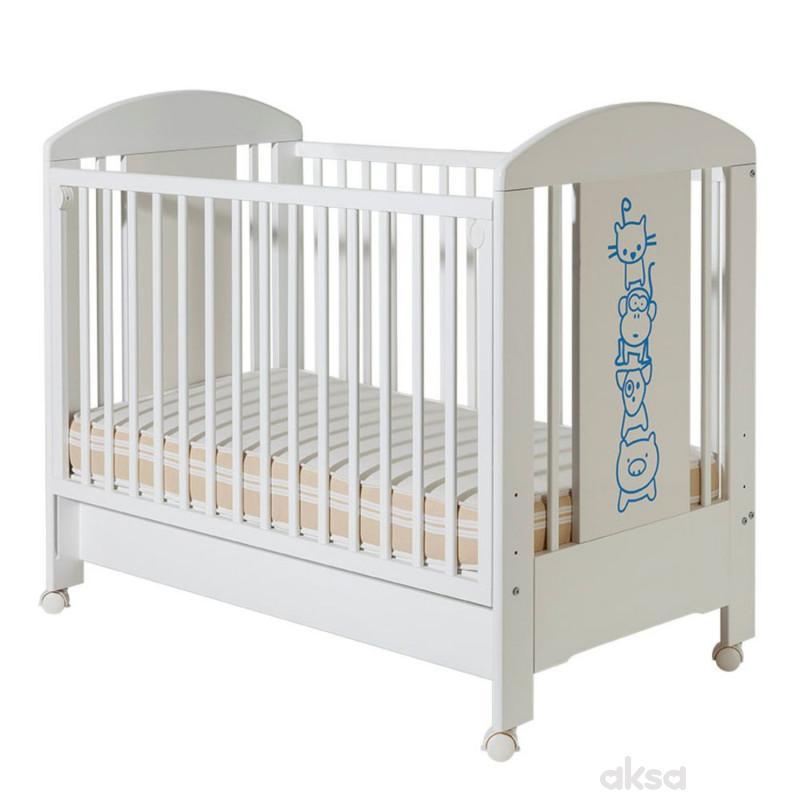 Bambino krevetac Lolek,belo-plavi,drugari,sa fio