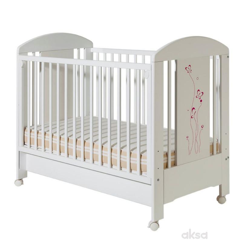 Bambino krevetac Lolek,belo-roze, leptir, sa fio