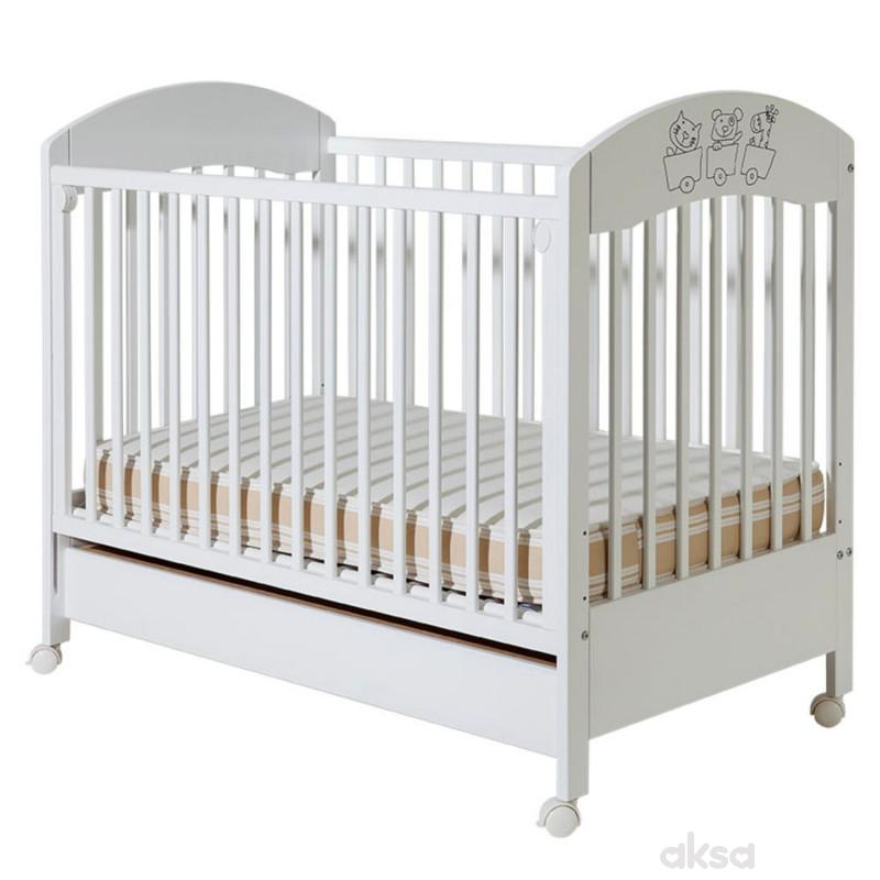 Bambino krevetac Gloria, beli, sa fiokom