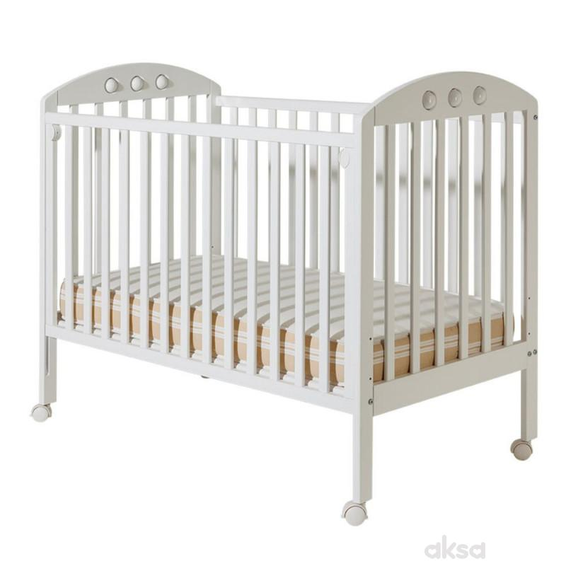 Bambino krevetac Nora, beli, bez fioke