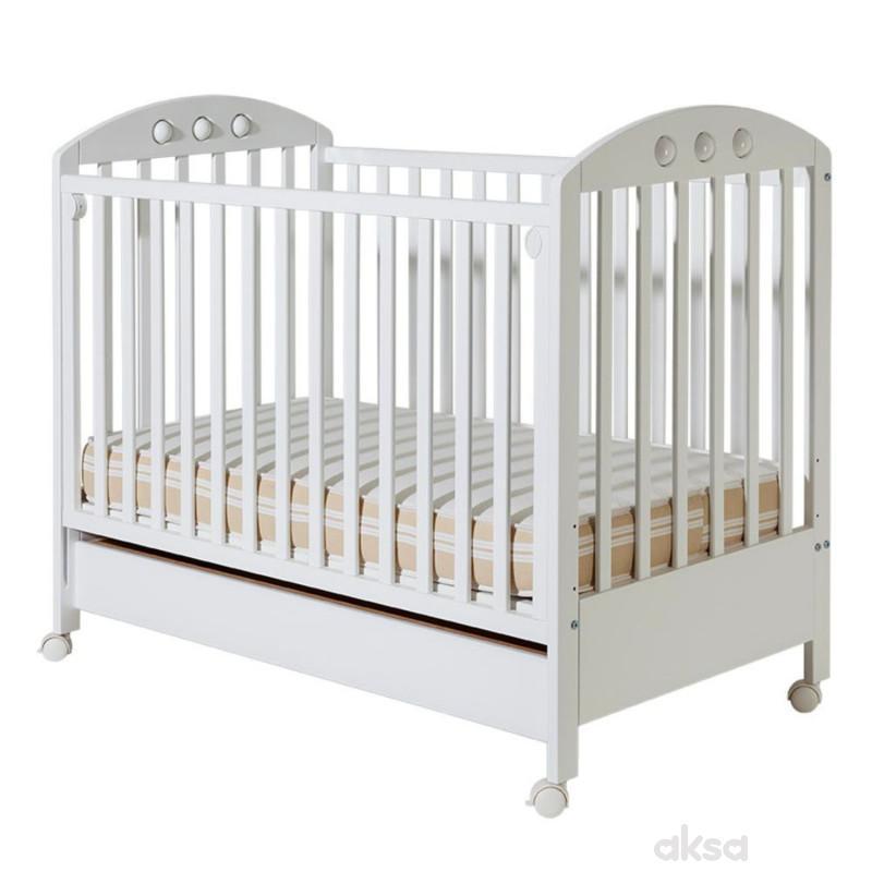 Bambino krevetac Nora, beli, sa fiokom