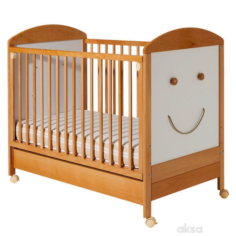 Bambino krevetac Smile, beli, sa fiokom