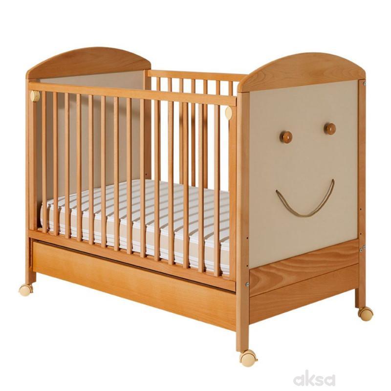 Bambino krevetac Smile, natur-beli, sa fiokom
