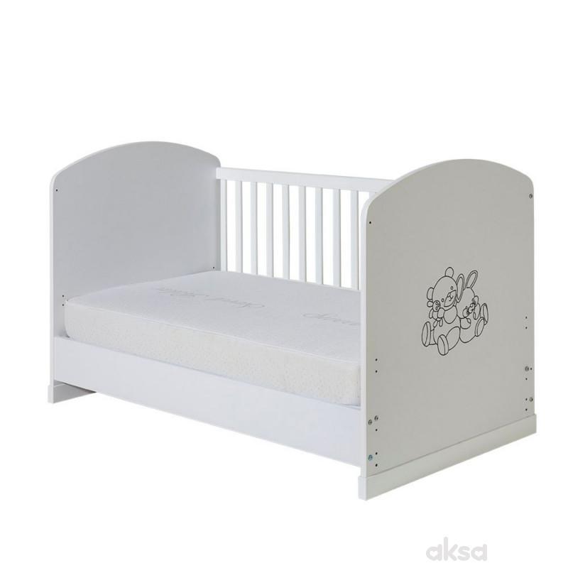Bambino krevetac Maxi,beli, bez fioke,140x70