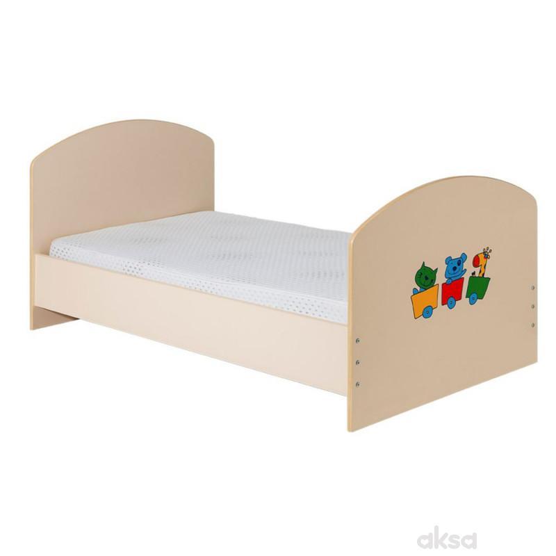 Bambino krevet Gloria, natur-bež,160x80