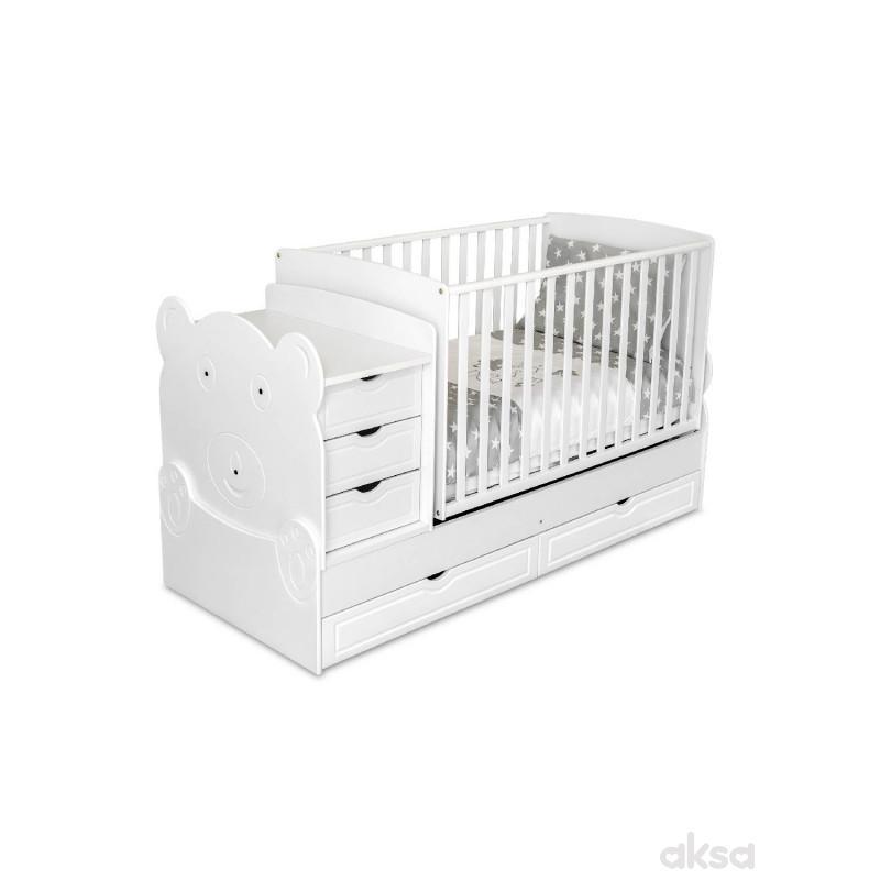 Krevetac 3 u 1 Meda, beli