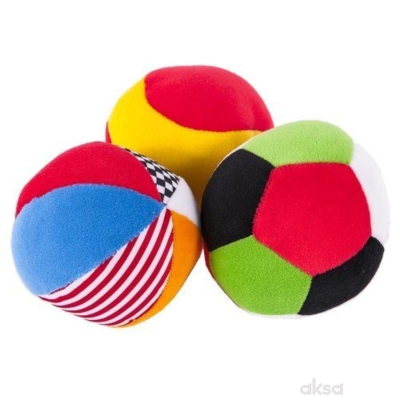 Biba Toys plišane lopte (3 kom.)