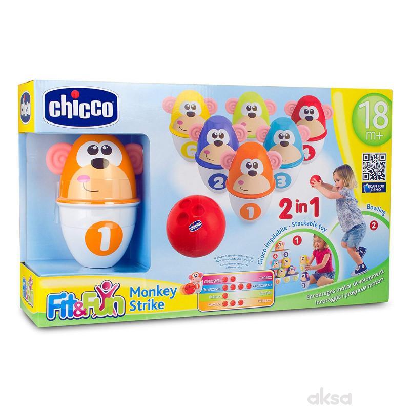Chicco igračka set za kuglanje-Majmunčići