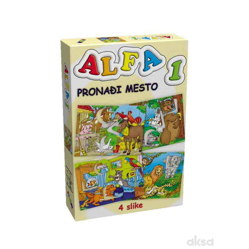 Pikom didaktička igra ALFA 1 - Pronadji mesto