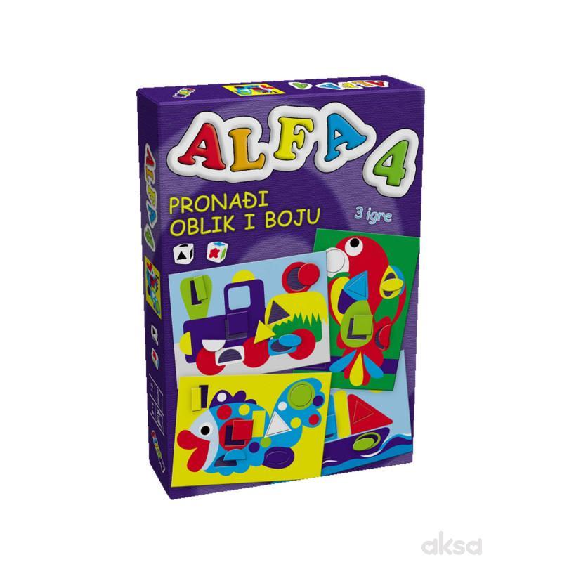 Pikom didaktička igra ALFA 4 - Pronadji oblik