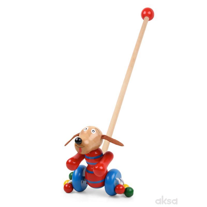 Pino drvena igračka guralica