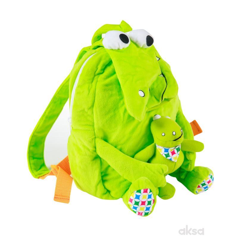 Biba Toys plišani ranac sa igračkom - Krokodil