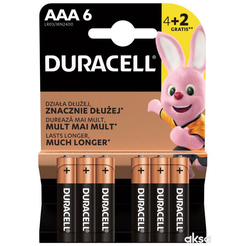 Duracell Basic AAA 4+2