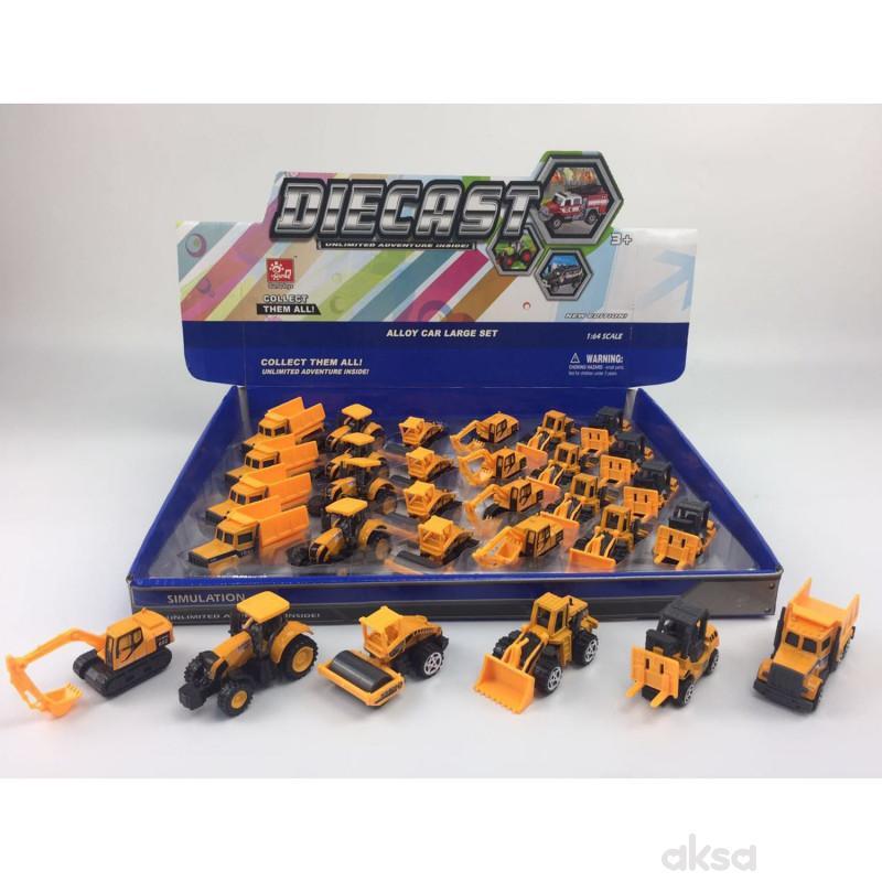 Hk Mini igračka građevinsko vozilo ,display 24 kom