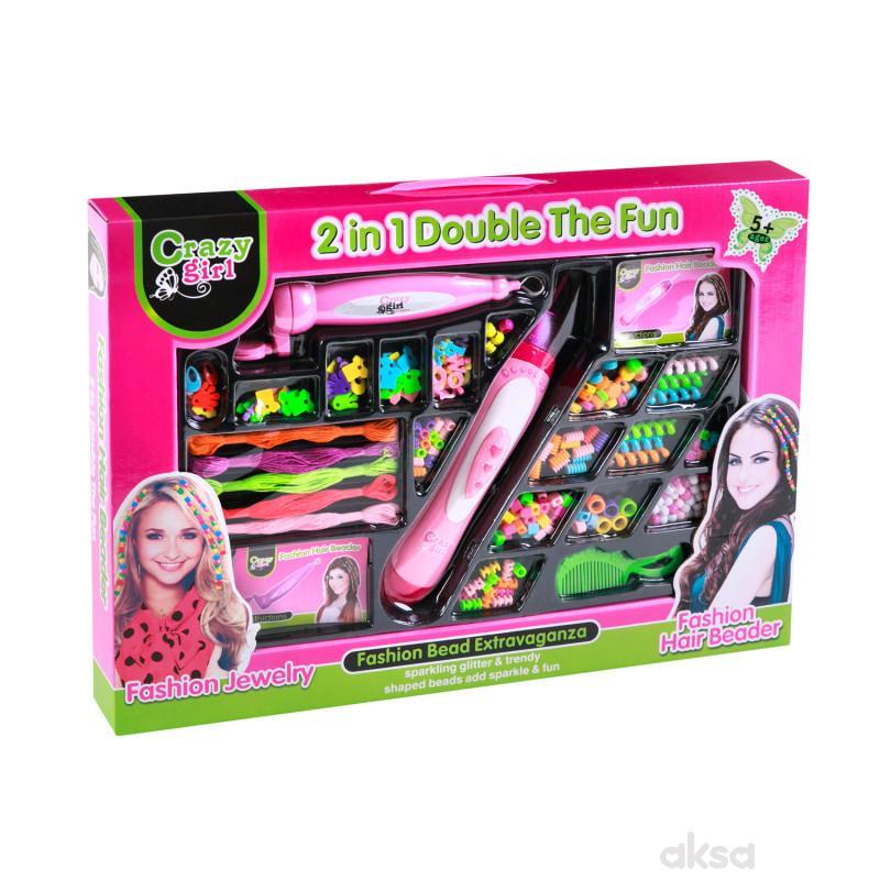Hk Mini igračka set za kosu sa perlicama