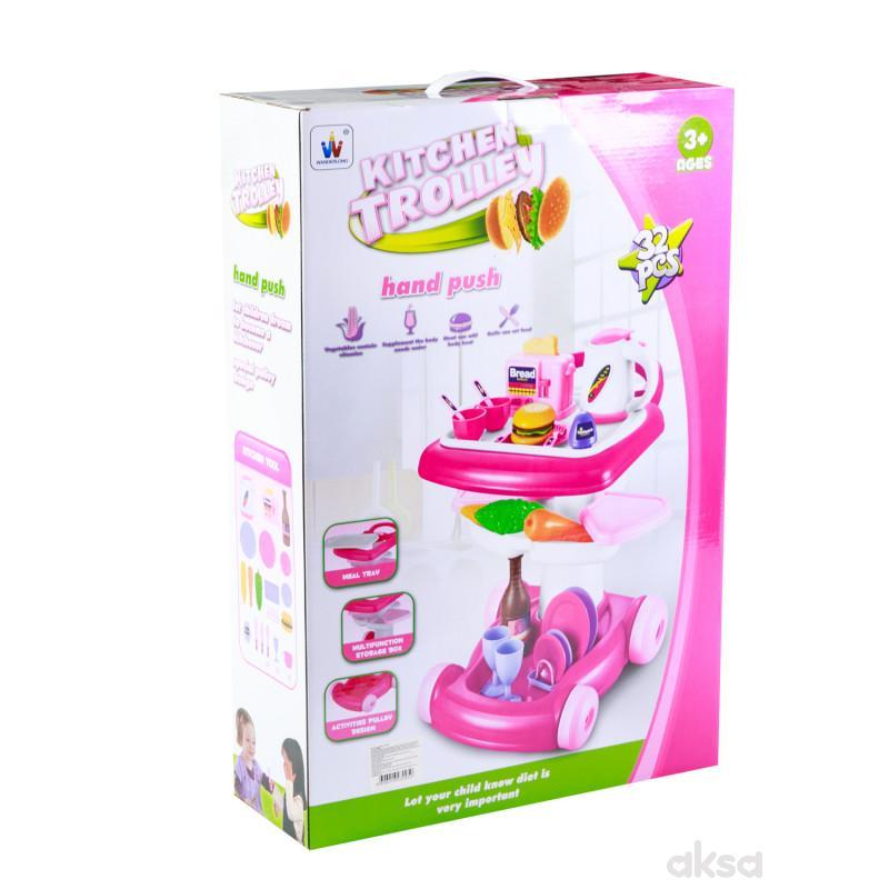 Hk Mini igračka kuhinjski set kolica