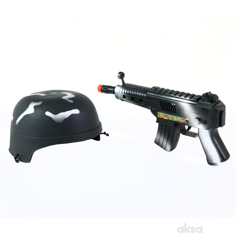 Century Youyi igračka šlem i puška u mrežici