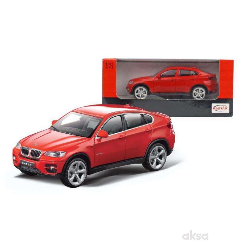 Rastar igračka automobil BMW X6 1:43 - crv