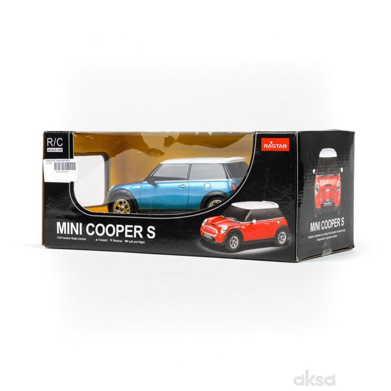 Rastar RC automobil Mini cooper S 1:24 - pla, crv