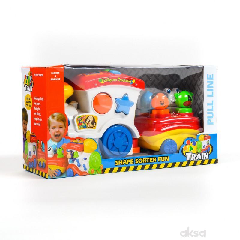 Hk Mini igračka lokomotiva sa prikolicom-umetaljka