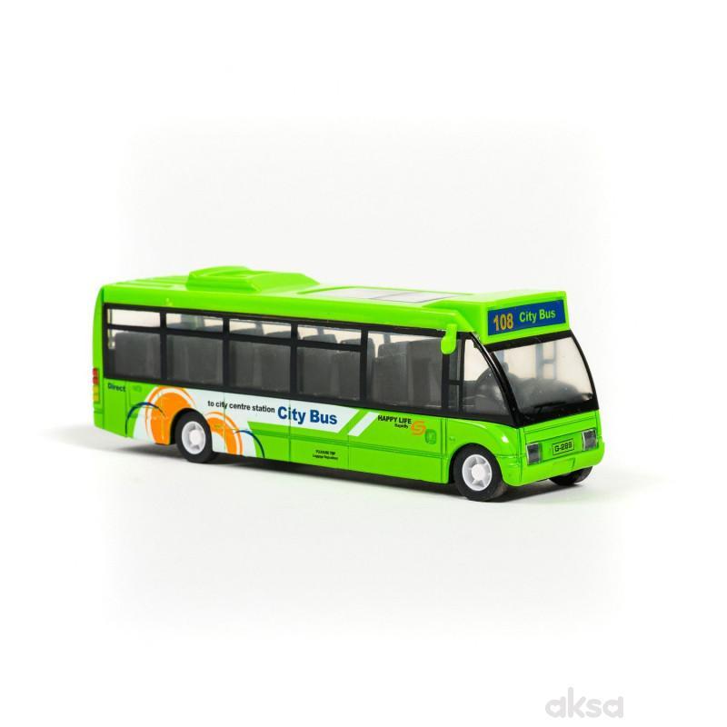 Hk Mini igračka gradski autobus, display 6 komada