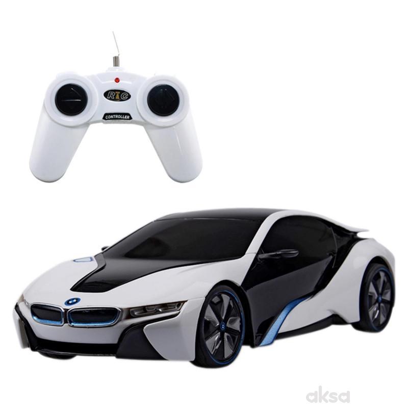 Rastar RC automobil BMW i8 1:24 - siv, bel